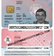 Fake Croatian ID Card