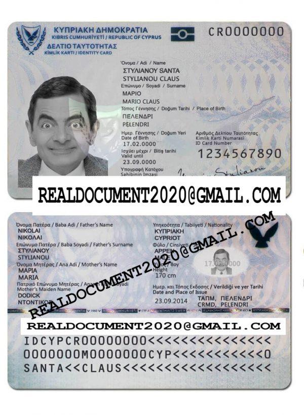 Fake Cyprus ID Card