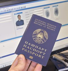 Fake Belarusian Passport