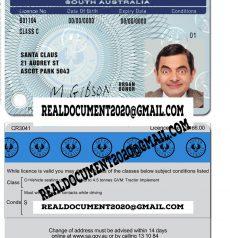 South Australia Driver License