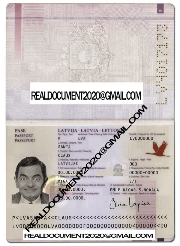 fake Latvian Passport