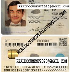 Fake estonian id card