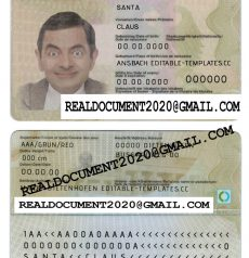 Fake German id card