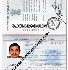 fake Indian Passport