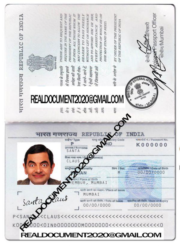 fake Indian Passport
