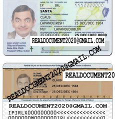 Fake irish id card