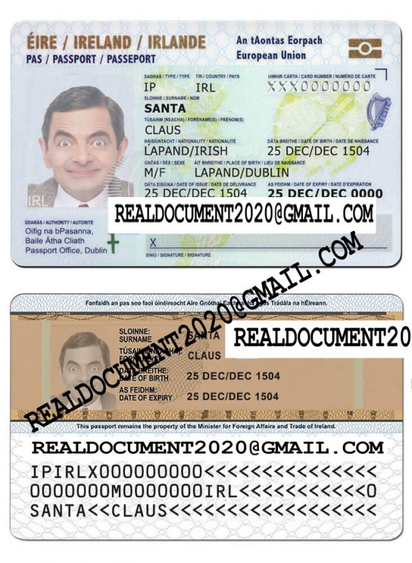 Fake irish id card
