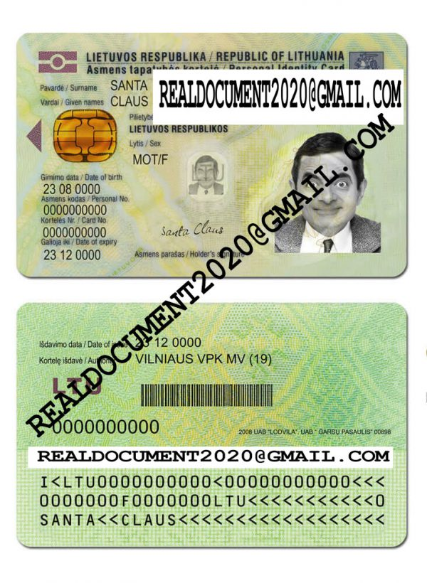 Fake Lithuania ID Card