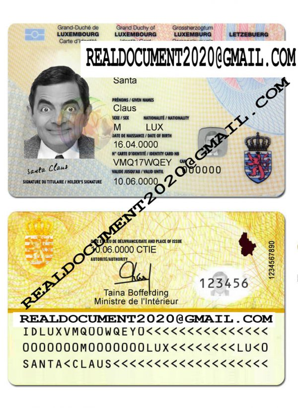 fake Luxembourg identity card