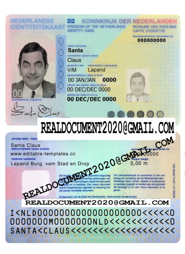 Fake Netherlands ID Card