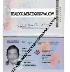 Fake Malaysian Passport