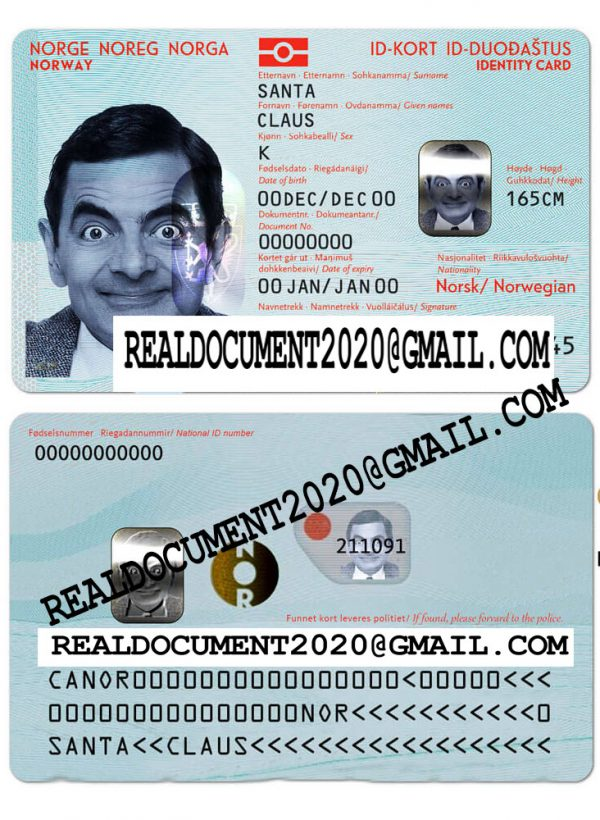 Fake Norwegian id card