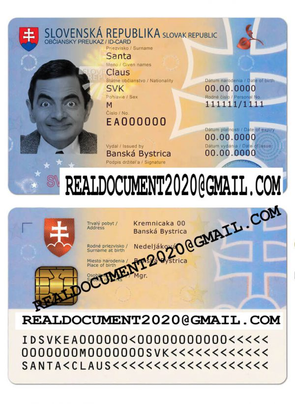 Fake Slovak Identity Card