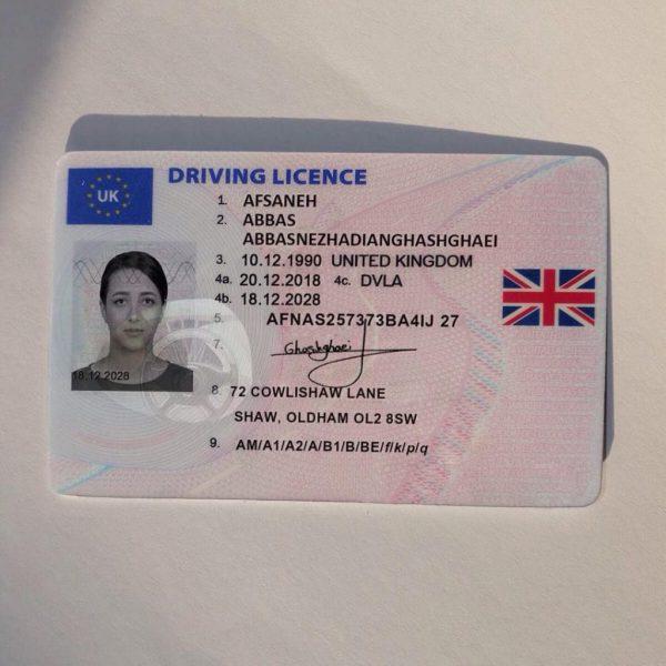 UK Driver License for sale