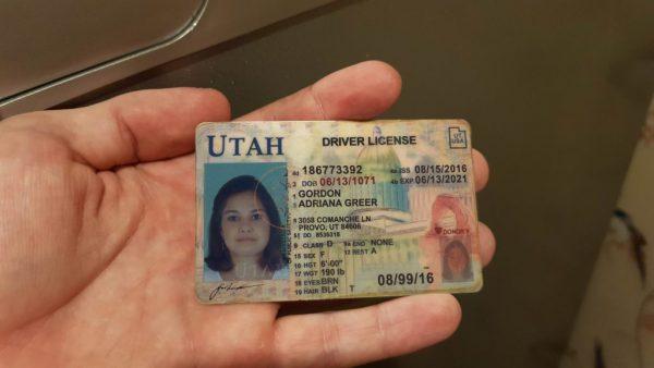 Utah Driving Licence
