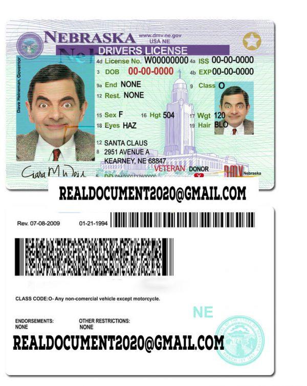 Nebraska Driver License