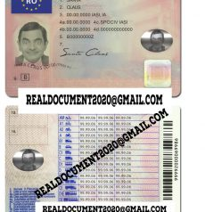 New Romanian Driver License