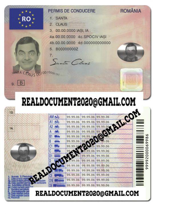 New Romanian Driver License