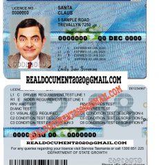 Tasmania Driver License