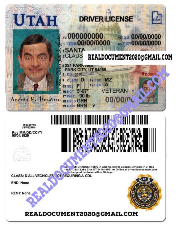Utah Driving License