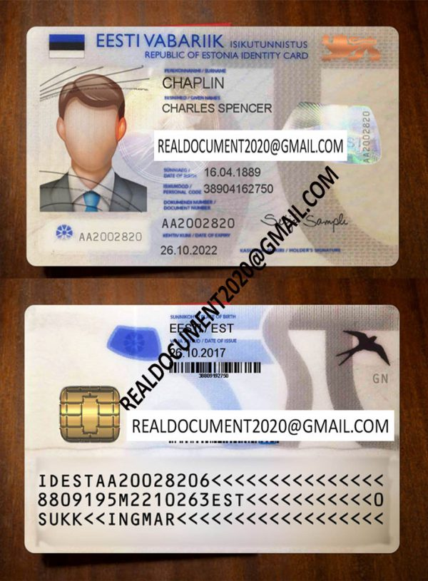 fake estonian id card for sale
