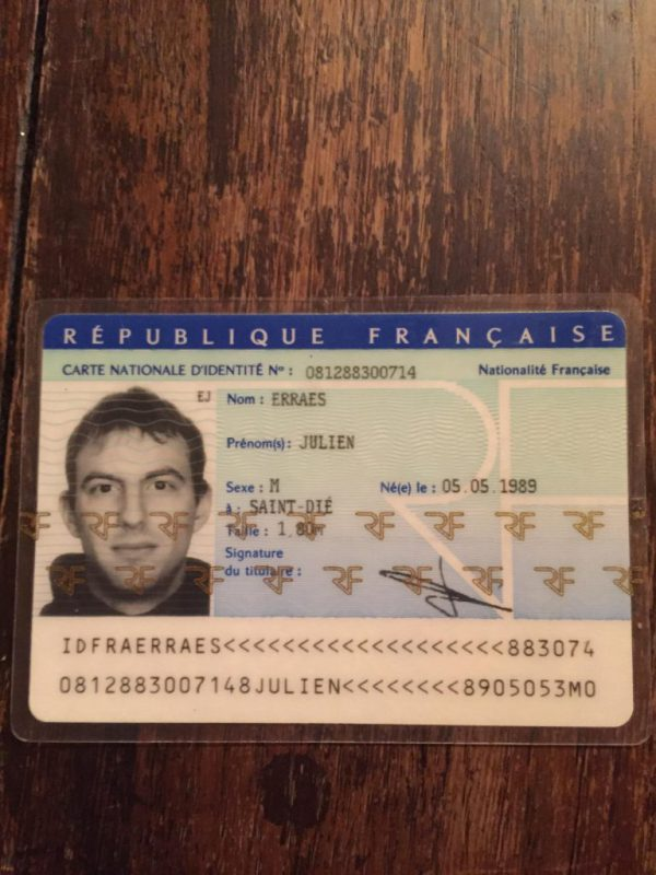 fake french national id card