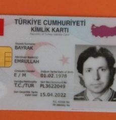 turkish identity card